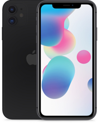 Apple iPhone 11 128GB schwarz Produktbild